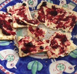 matzah and jam